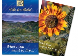 Postcard designs for Villa de Madrid.