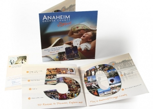 Brochure design for Anaheim Orange County.